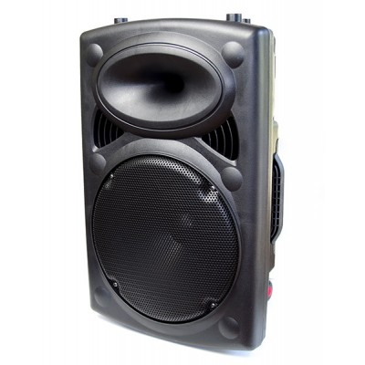 "New Portable 350W RMS 12"" DJ / PA Active Speaker Amplifier, USB/SD/MMC"