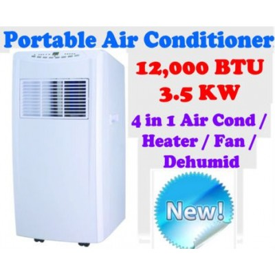 New Reverse Cycle 12,000 BTU 3.5KW Portable 4-in-1 Air Conditioner Humidifier Fan HEATER