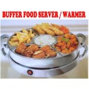New 1200W Deluxe Rotating Carousel Stainless Steel Buffet Food Warmer Server