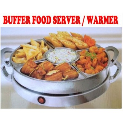 New 1200W Deluxe Rotating Carousel Stainless Steel Buffet Food Warmer Server TU560