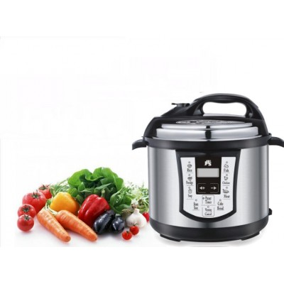 New 8-in-1 Electronic Pressure Cooker St. Steel 1000W 6 LTR Non-Stick Auto Ctrl