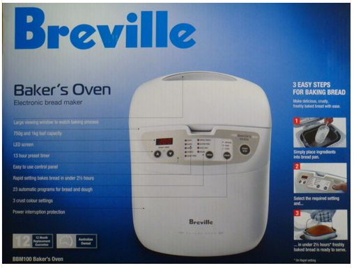 Breville Bread Maker Bakers Oven Bbm100