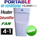 New Reverse Cycle 10,000 BTU Portable 4-in-1 Air Conditioner Humidifier Fan HEATER