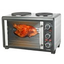 New 2200W 28Ltr Rotisserie Convection Oven w/ Twin Stove Hotplates - Roast Bake Broil